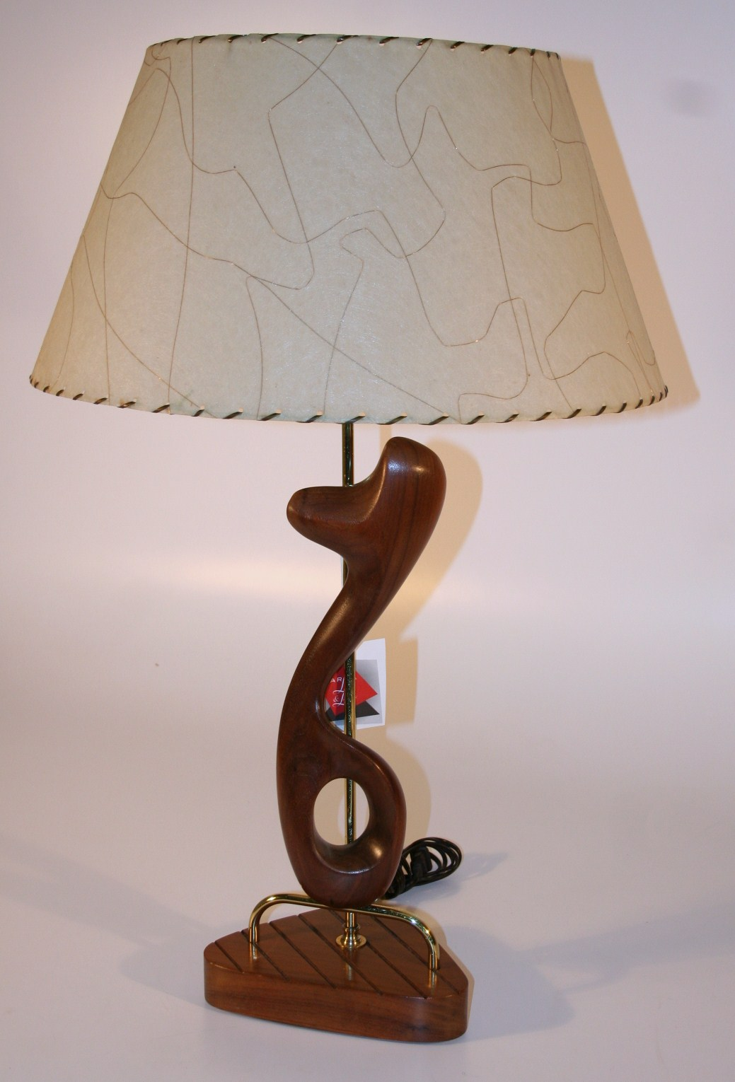 0231f Mid Century Modern Wood Lamp Marfa Lights Amp Lamps